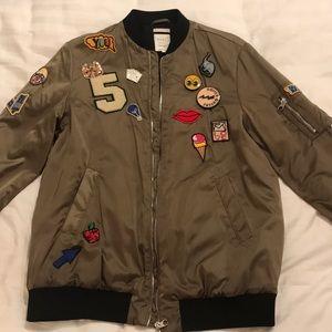 Zara women's bomber jacket
